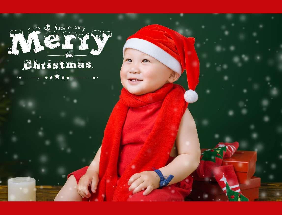 Yang简单的儿童摄影作品《圣诞主题》